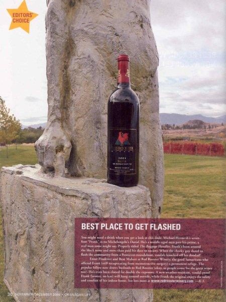 OKanagan Life December 2006 Article on Frank and the Red Rooster Winery.